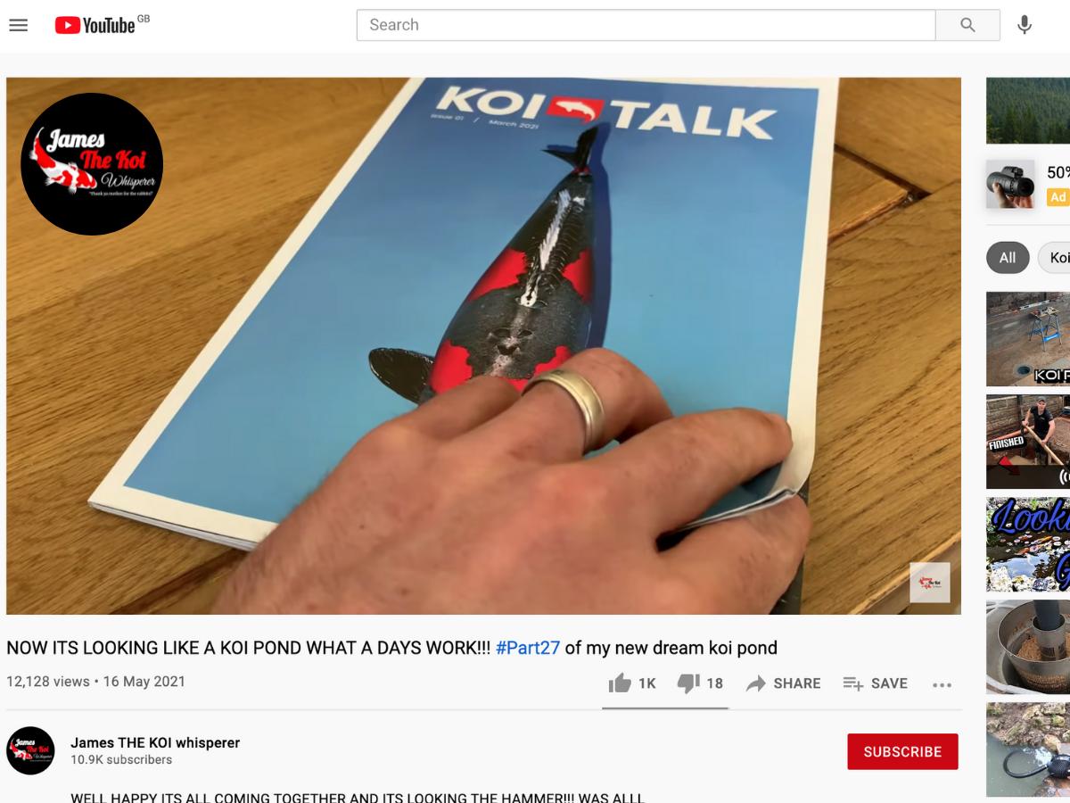 Koi Talk featured on YouTube